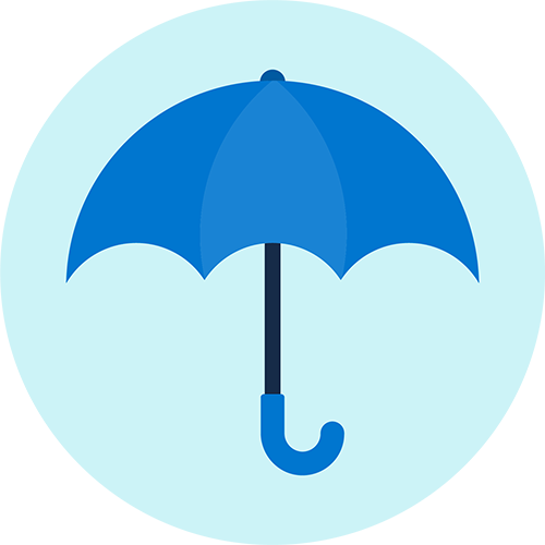 Graphic of an umbrella.